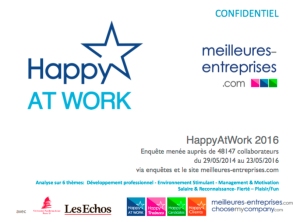 Résultats HappyAtWork 2016