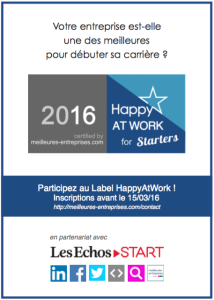 HappyAtWork Starters 2016 - Les Echos Start